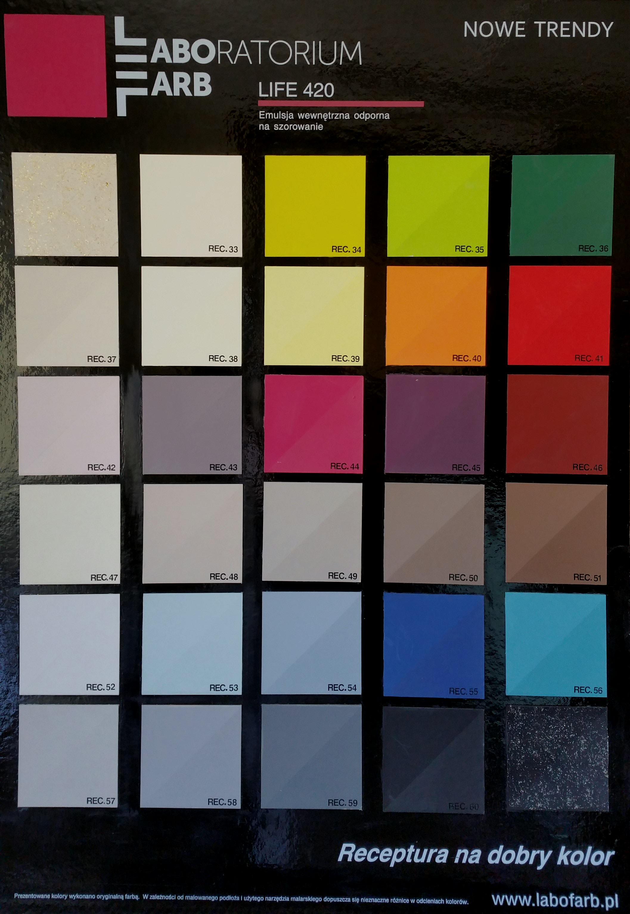 Paleta kolorów LIFE 420