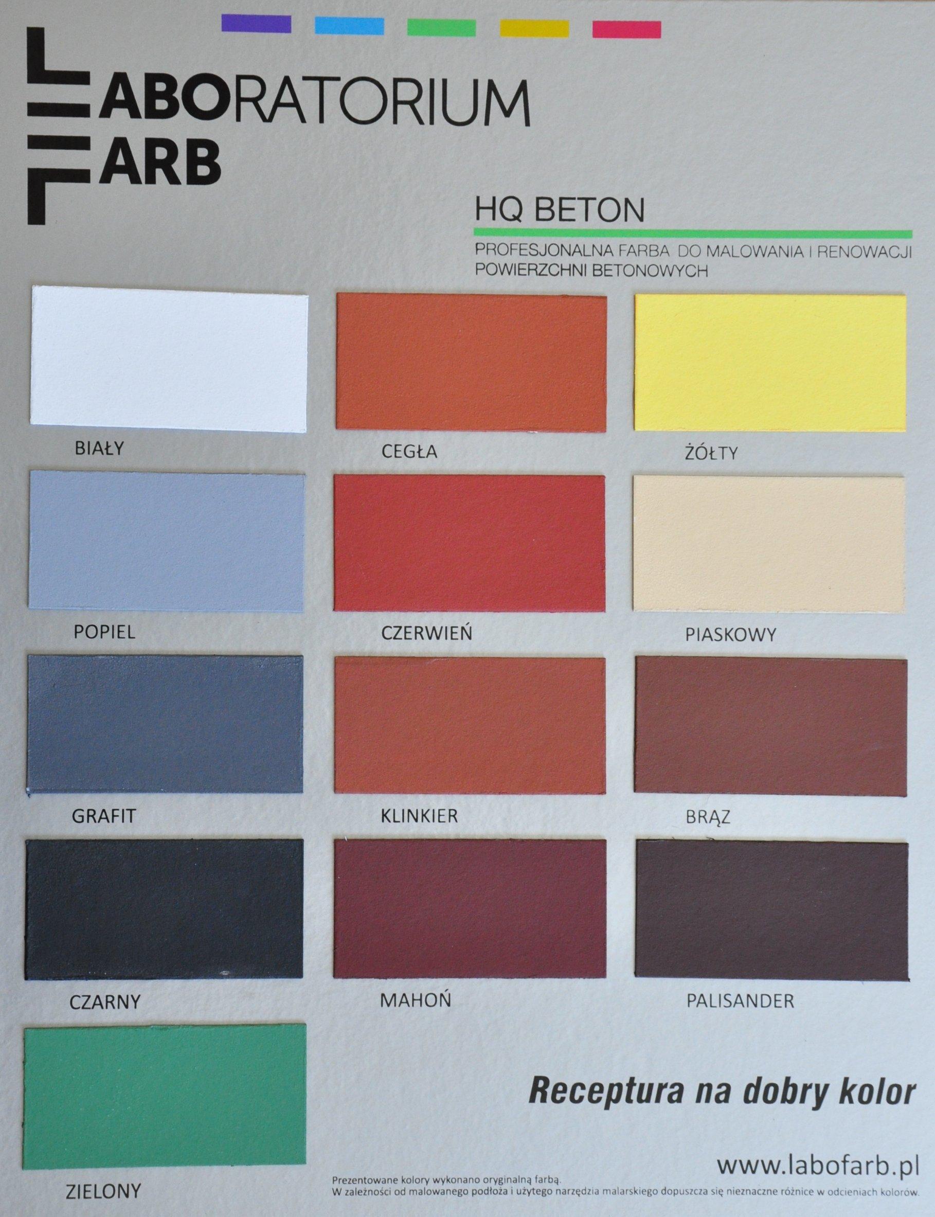 Paleta kolorów HQ BETON
