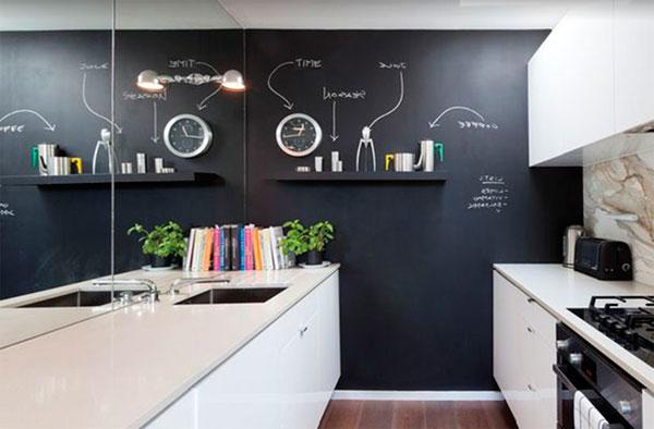 Farba tablicowa w kuchni?Genialny i praktyczny efekt!
